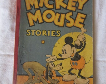 Mickey Mouse Stories Walt Disney Studio Book No 2 1934 Vintage Disney Hardcover Book
