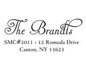 calligraphy custom address stamp,SELF INKING Return address stamp,personalized stamp,wedding stamp,S46