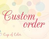 Custom order for Natalya, peacock bead crochet rope necklace