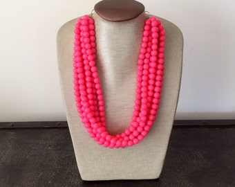 The Prettiest Fluorescent Pink Necklace