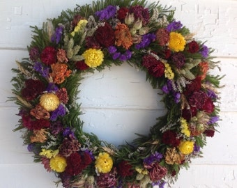 Spring Dried Flower Wreath