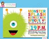 Monster Birthday Party Invitations - Printed Invitations - Custom Invitations