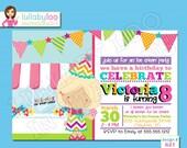 Ice Cream Birthday Invitations -Printed Birthday Invitations - Custom Invitations Invitations - Printed Invitations - Custom Invitations