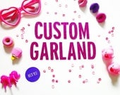 Free Shipping CUSTOM Name Glitter Garland/ choose your words /glittler banner / party banner / wedding decor / just married