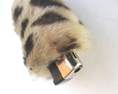 Bic Lighter Case Sleeve Holder for Women Smoking Accessories for Her Furry Cigarette Lighter Cover Tiger Leopard Animal Print Faux Fur