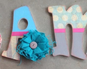 Wooden Letters for Girls, Made to Order Letters, Girly Wooden Letters, Made to Match Letters, Wooden Initials for Girls, Letters for Girls