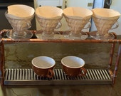 Custom order for connypena - Industrial Steampunk Coffee Pour Over Drip Station / Stand
