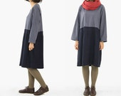 Grey Contrastcolor Simple Free Style Dress