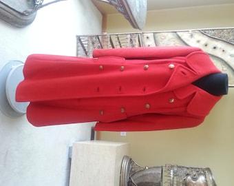 Vintage  - Red 100% Wool Coat