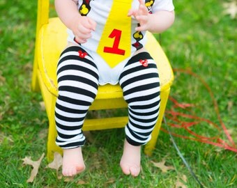 Baby Leg Warmers - Mickey Mouse Inspired Button Leg Warmers - Pick Your Own - Baby Boy First Mickey Birthday - Baby Photo Prop - Stripes