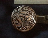 Pewter Scissor Keeper With Celtic Otters