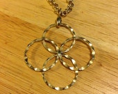 Gold Tone Rings Necklace