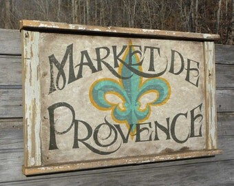French Market   Sign, original, hand painted ZMF2