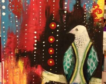 Bird at Night Original Fine Art