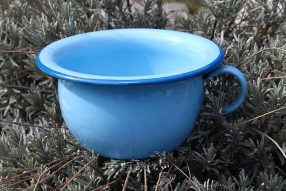 ancien pot de chambre maill bleu enfant pot fleur. Black Bedroom Furniture Sets. Home Design Ideas