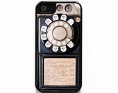 iPhone 5 Case iPhone 5S Case Silicone Lined Tough Case. Vintage Payphone Case. Case for iPhone 5. 2 in 1 Case.