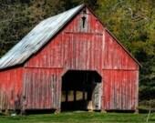 Vintage Grain Storehouse - Architectural Photography - Farm Building - Home Decor - Gifts Under 30 - Color Photo