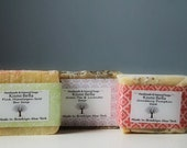 3 Bars Natural/Handmade Soap Gift Set/Mom/Friend/Co-worker Or For Anyone