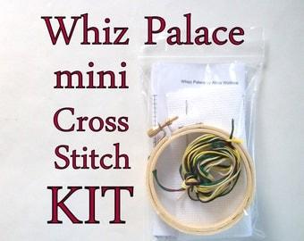Cross Stitch Kit -- Whiz Palace, beginner-intermediate Mini cross stitch DIY kit