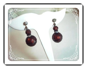 Disco Ball Earrings - Root Beer Brown  Screwback Earrings E105a-040812000