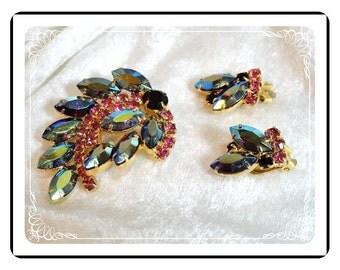 Lush Sparkling Demi - Vintage  Aurora Borealis Rhinestone   Demi-1221a-40510000