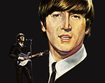 Beatles John Lennon Capitol Reproduction Promo Portfolios Stand-Up Display