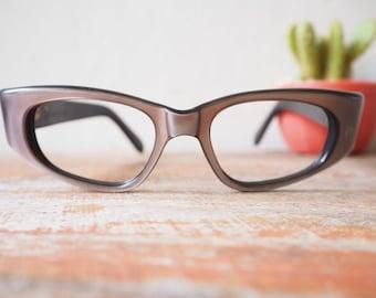 Vintage Eyeglasses Frame France 1960's NOS Copper Color