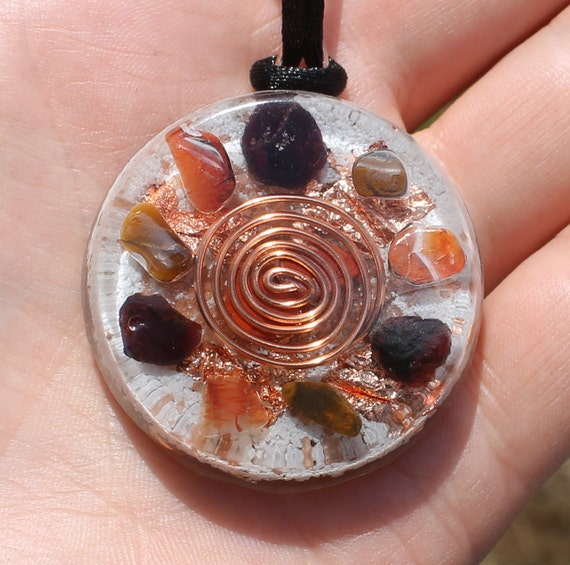 Warrior Orgone Crystal Healing Pendant Specifically Designed for Men
