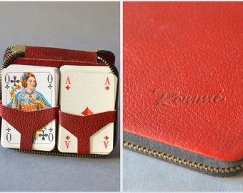 6 card shufflers for canasta set with hand holders