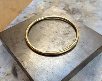 Half-and-Half Bangle Bracelet in Brass