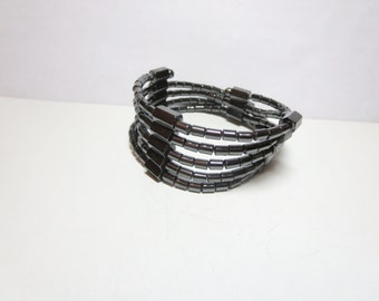 Healing bracelet -Hematite  bracelet -Balancing bracelet - beaded gemstone bracelet