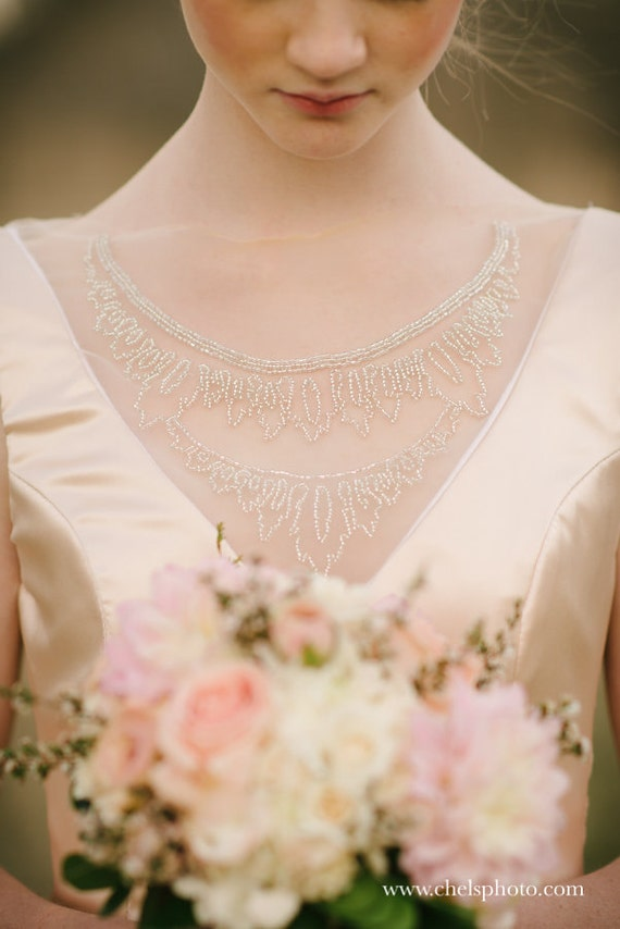 Blush Low Back Wedding Dress : Low back blush silk charmuese mermaid wedding by