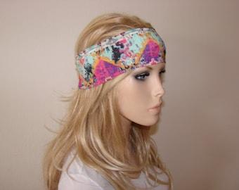 yoga headband, running headband, turban headband, fitness hair band silky jersey boho hair band woman head wrap scarf