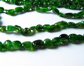 Russian Chrome Diopside Oval Nugget Beads 4mm - 8mm