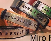 Customized Leather Handstamped Bracelet