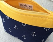 Navy Blue Anchor Bag with Yellow