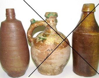 SALE!!! Antique Stoneware Bottle, J M Da Fonseca, Made in Madalena, Portugal, Wine Bottle, Sale is for Bottle on LEFT of Photo 1