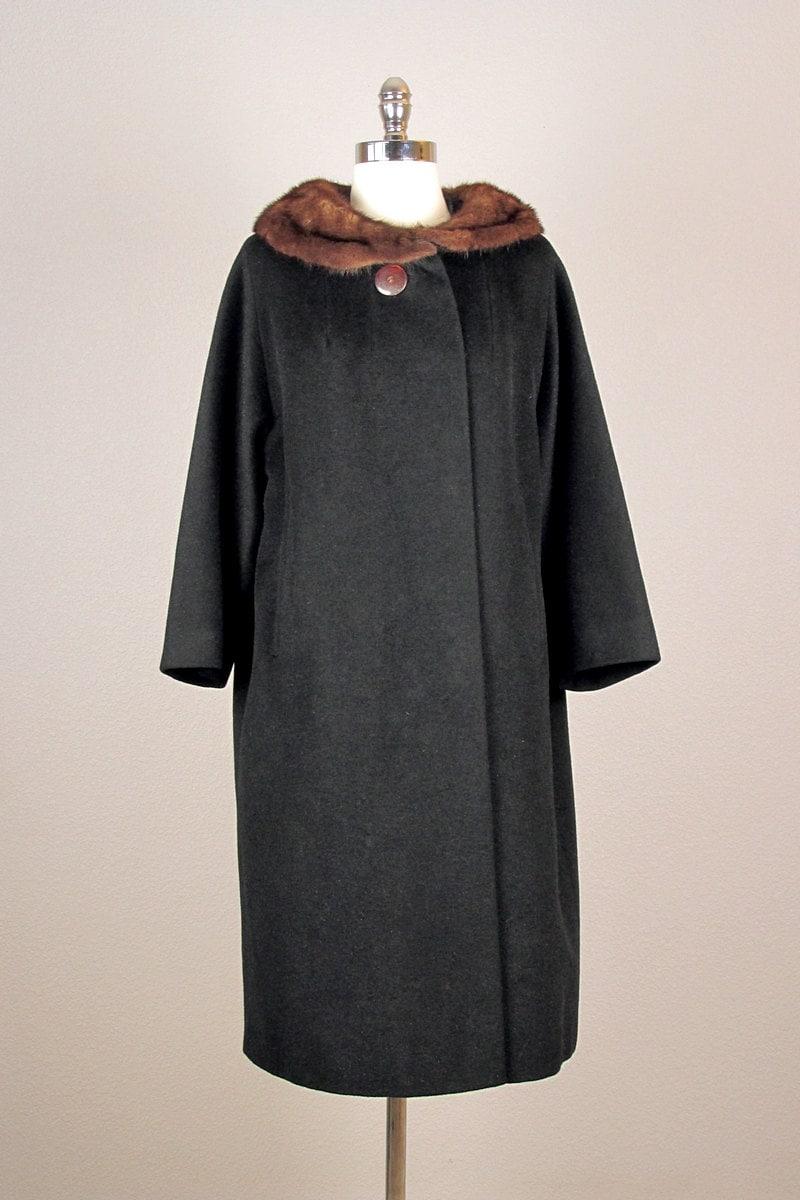 manteau vintage des ann es 1950 50 ans manteau par bloombird. Black Bedroom Furniture Sets. Home Design Ideas