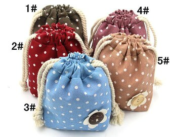 Portable Sewing Kits Polka Dot Pockets-Home Sewing series packages(Lines, needles, scissors,buttons,etc.)
