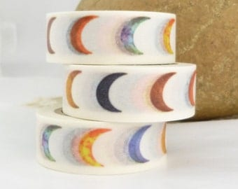 Colorful Crescent  Moon  Washi Tape - E1536