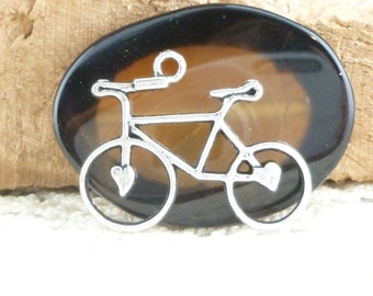 Silver Tone Bicycle Charms (4) - S82