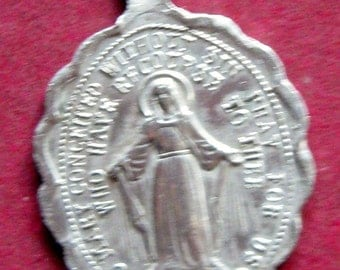 Beautiful Vintage Small Lourdes Childs Sized Medal - circa 1960s
