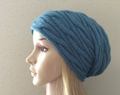 Hand knitted hat, gorgeous cable pattern