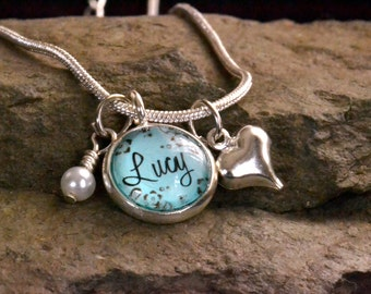 child name necklace, personalized name necklace