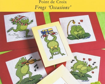 Frogs 'Occasions' Cross Stitch Chart Booklet - DMC (P5081) - 14 Designs