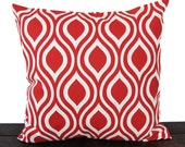 Throw pillow cover lipstick red cushion cover pillow sham Nicole print