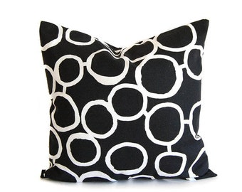Black throw pillow cover One cushion cover black and white throw pillow covers black modern decor Freehand