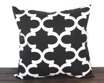 Throw pillow Toss Pillow Cushion Cover Decorative Pillows black and white modern geometric Fynn