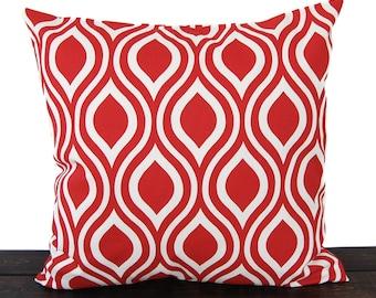 Throw pillow cover lipstick red cushion cover pillow sham Nicole print