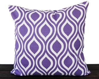 Throw pillow cover Thistle grape purple cushion cover pillow sham Nicole print